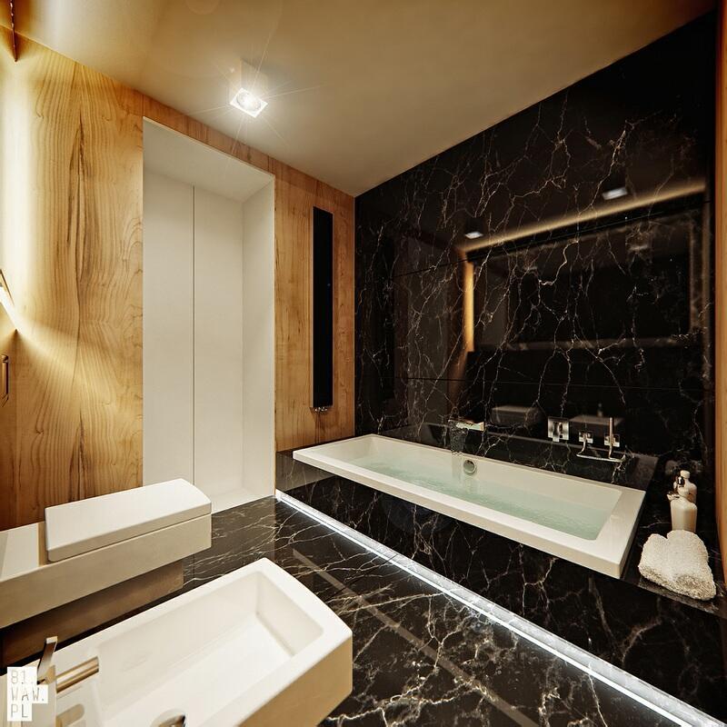 Apartament z marmuru i drewna