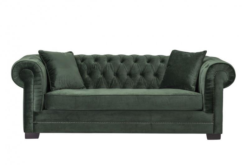 Dekoria.pl, sofa Chesterfield Classic Velvet Green Forest