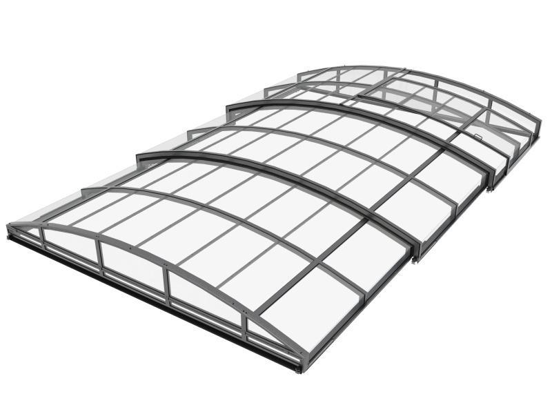 ALUNA® Eco – bezprowadnicowe zadaszenie basenu