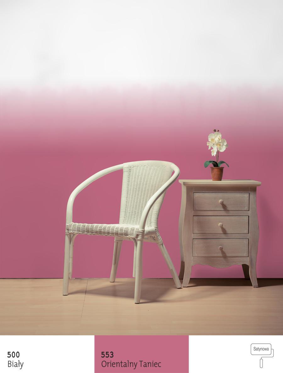 Apetyt na cieniowanie – efekt ombre na ścianie