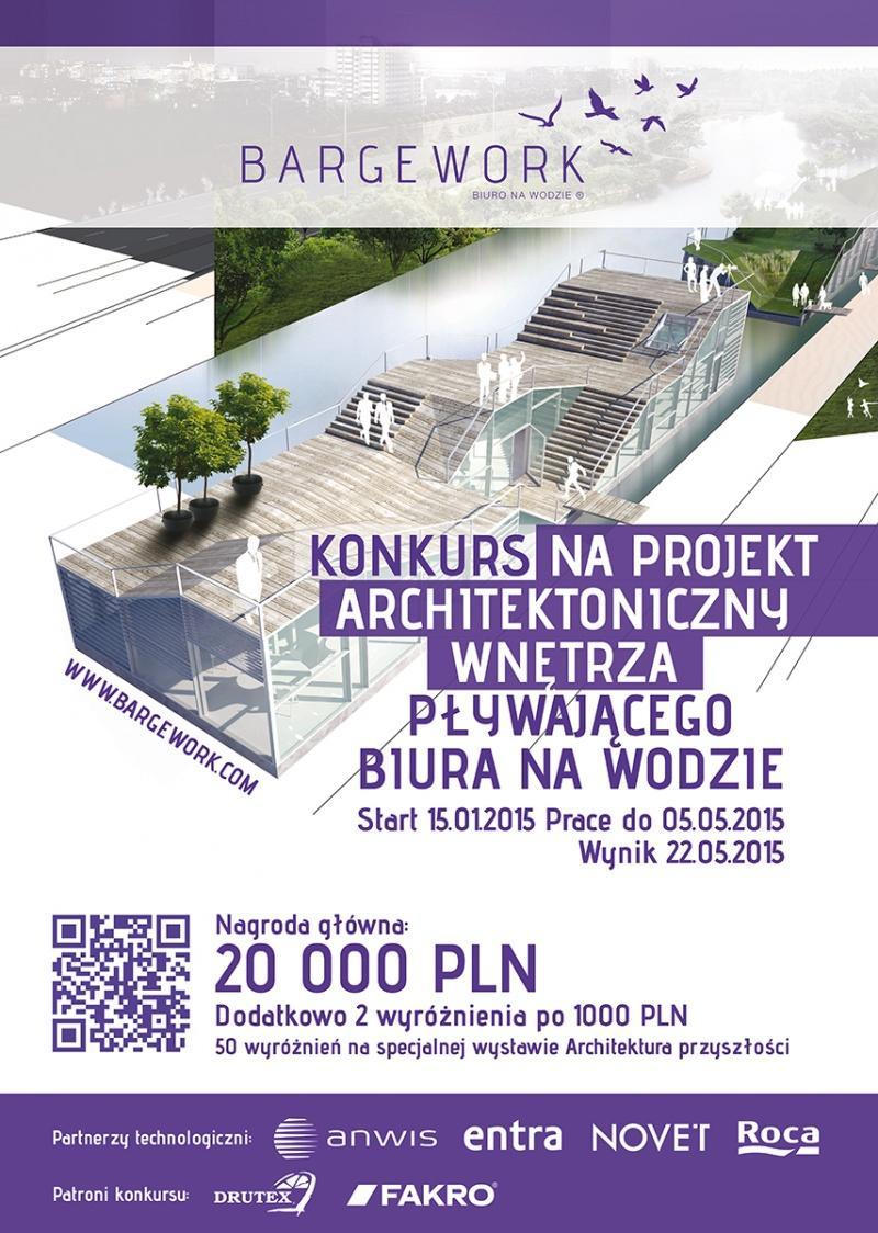 Architekci projektują biuro na wodzie Trwa drugi etap konkurs BARGEWORK z marką Roca