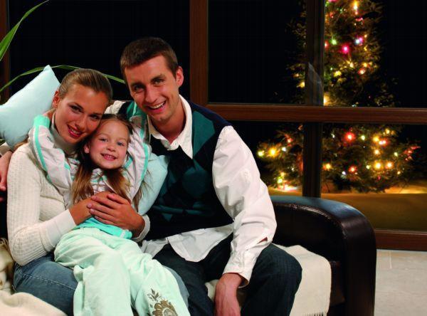 Świąteczne chwile w rodzinnym gronie