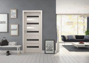 Drzwi wewnętrzne Invado wkolorze białym