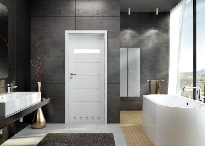 Drzwi wewnętrzne Invado w kolorze białym
