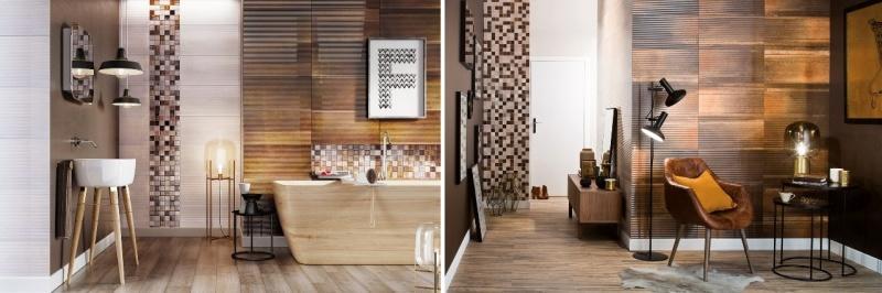 """""""Ceramiczna"""" ściana w salonie? Czemu nie!"""