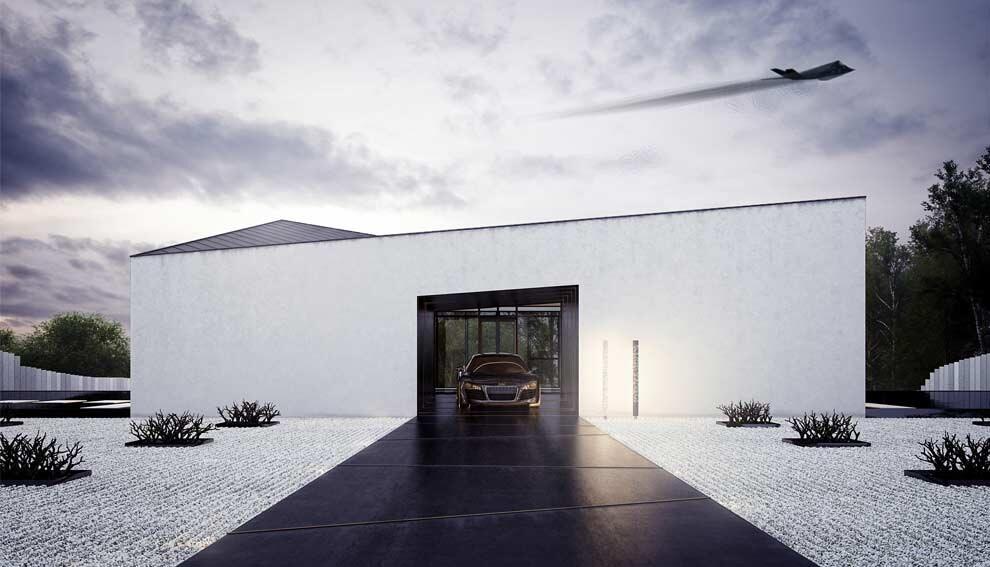 Dom z atrium w Górze Kalwarii