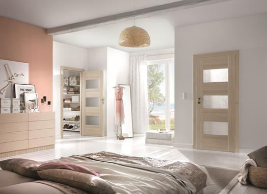 Drzwi Porta podkreślą harmonijny wystrój sypialni