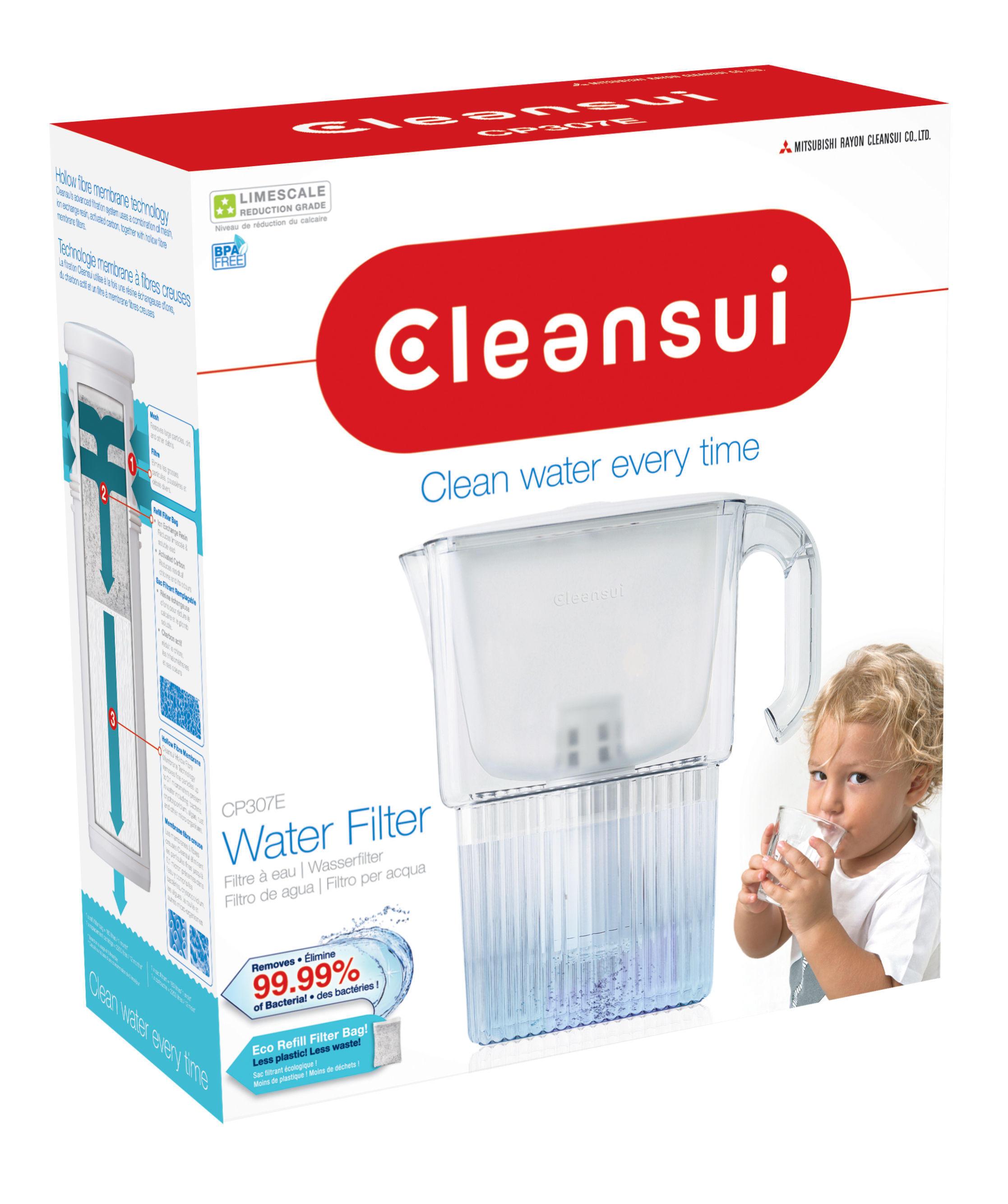Filtry Cleansui z usuwającą kamień wymienną torbą filtrującą na targach Aquatec