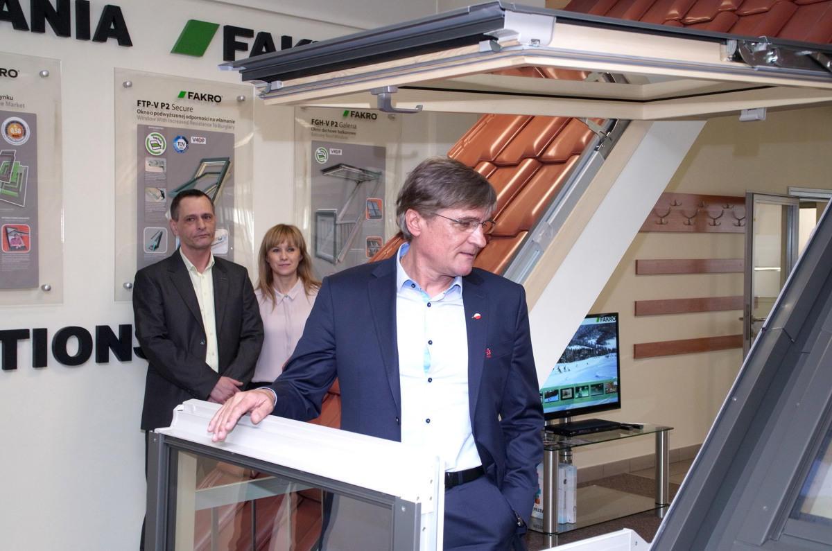 Firma FAKRO sponsor narodowej drużyny gościła trenera Adama Nawałkę