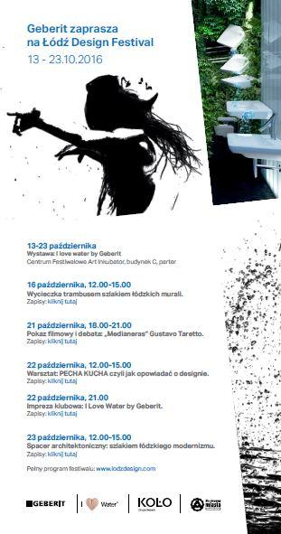 Geberit partnerem jubileuszowej edycji Łódź Design Festival