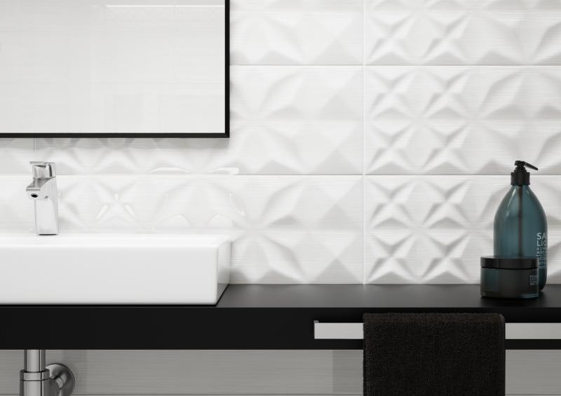 Geometria w łazience – Delicate lines od Opoczno