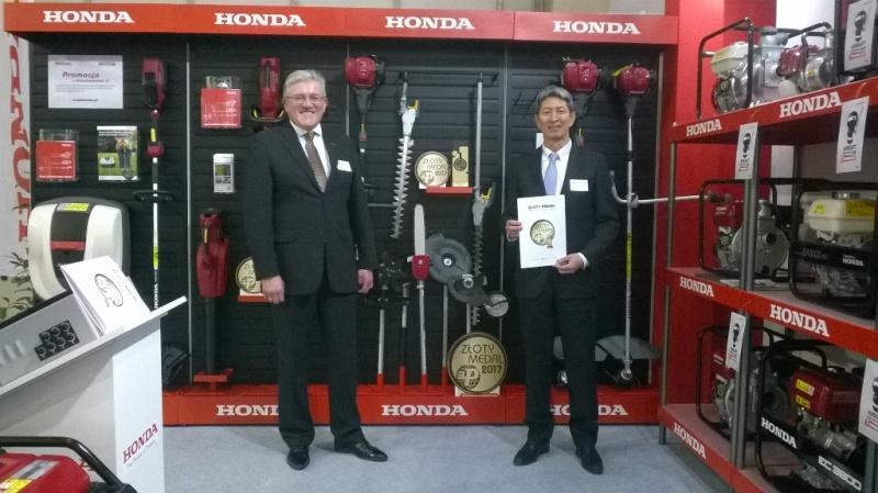 Honda ponownie wyróżniona - Złote Medale 2017 MTP