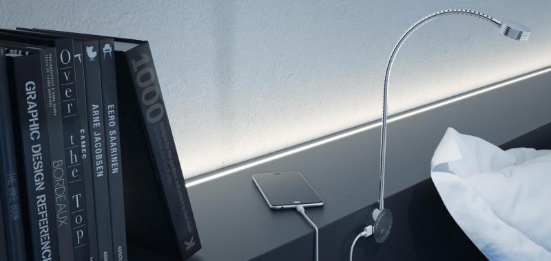 Inteligentne światło w sypialni. Samo zaświeci i naładuje telefon