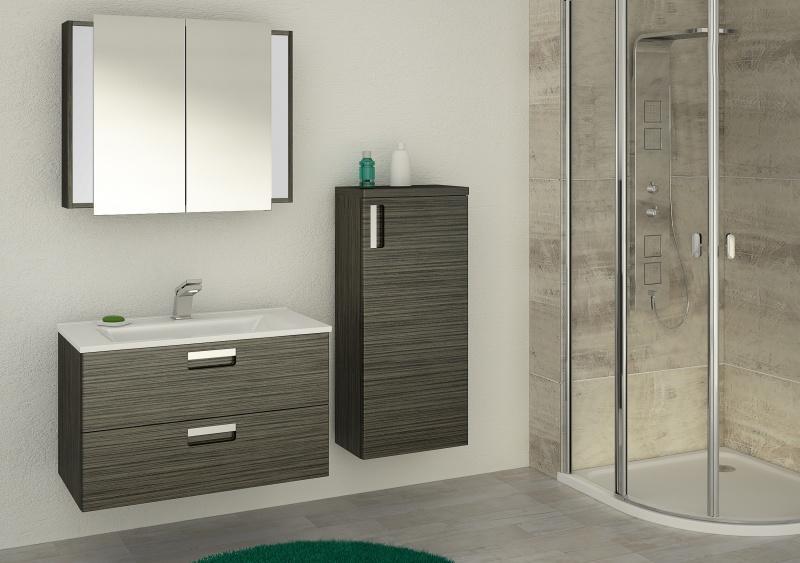 Jak ocieplić szarą nowoczesną łazienkę?