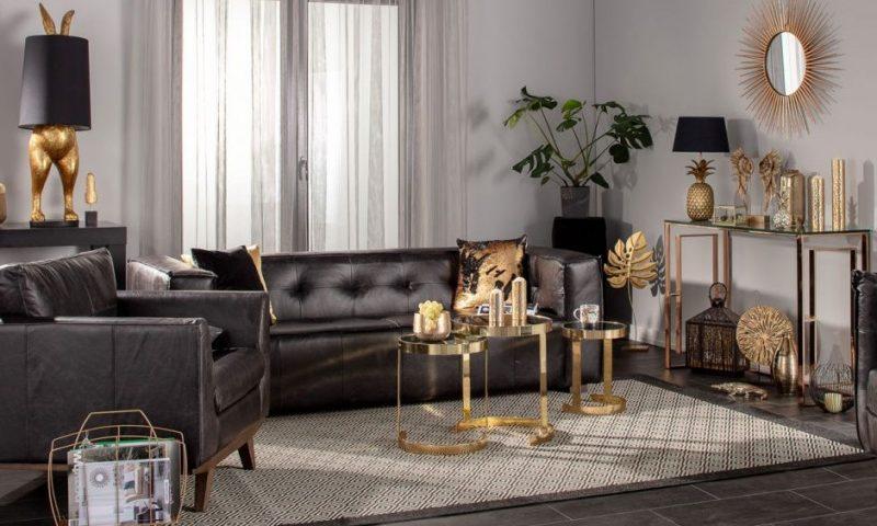 Dekoria.pl, sofa Venito black, fotel Moments black