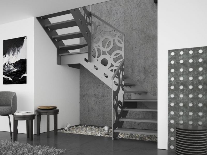 Jak zaaranżować schody w kształcie litery L, U, C lub S? Galeria inspiracji