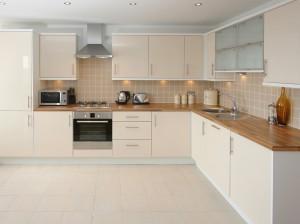 Modern Beige Kitchen Interior