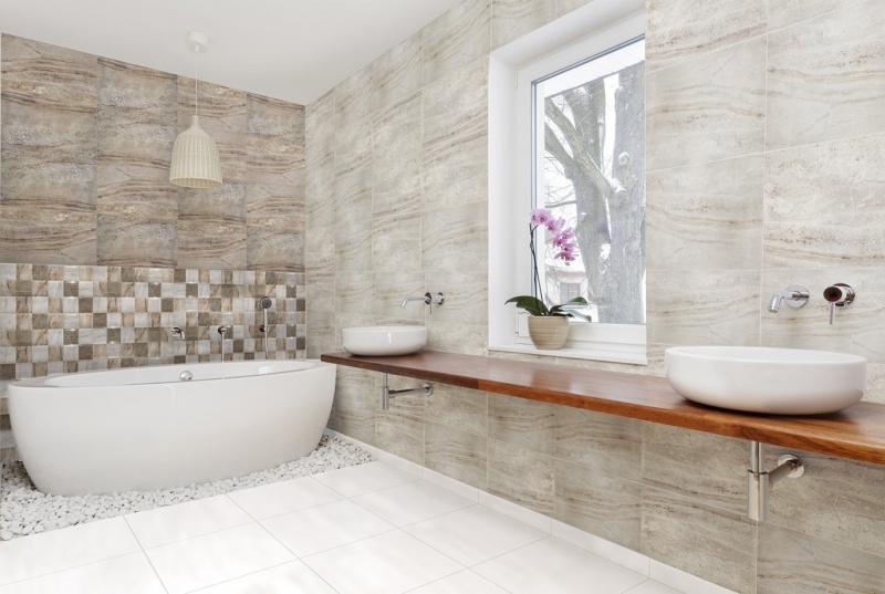 Łazienka jak kamień i aksamit