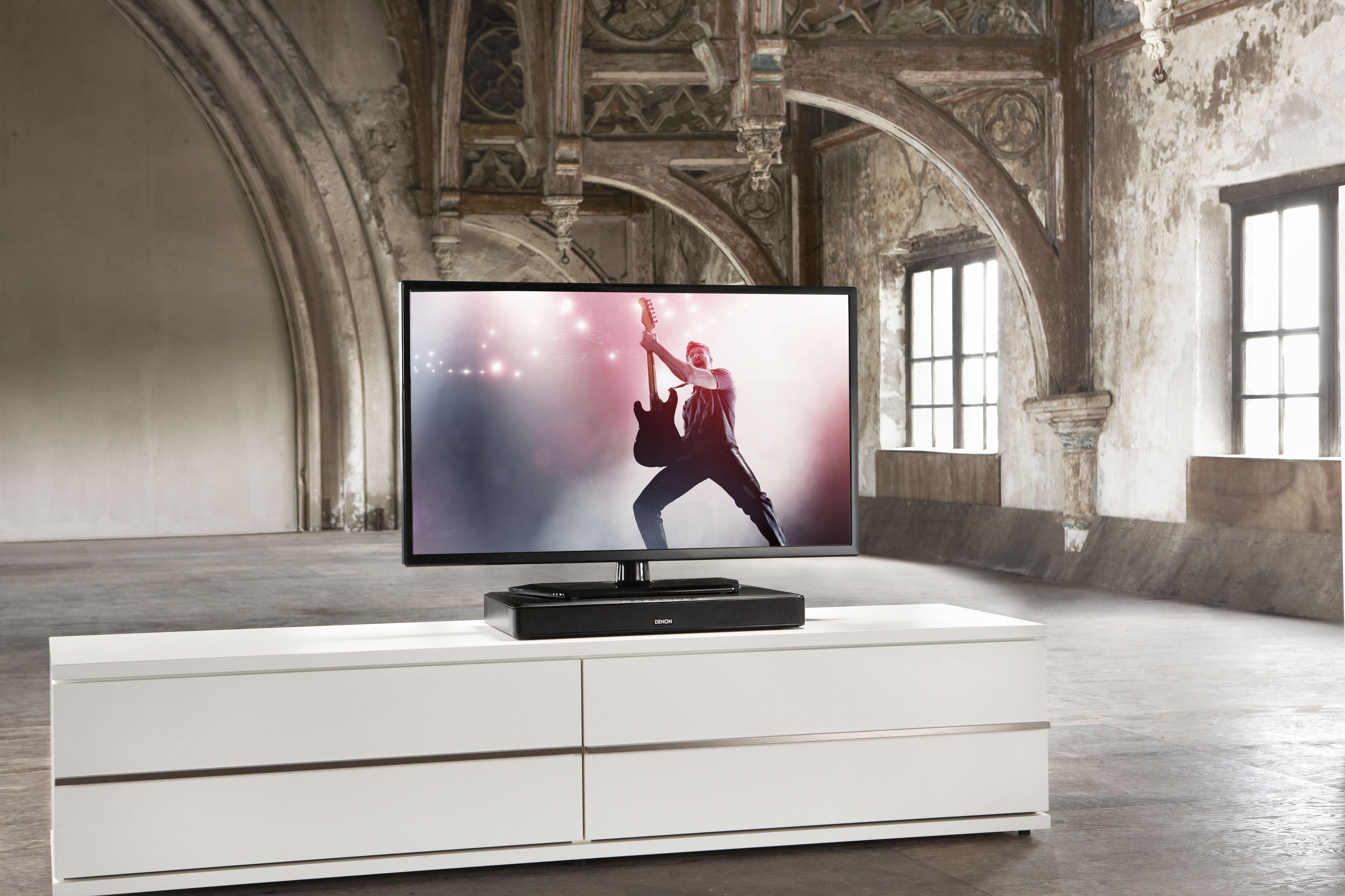 Lepszy dźwięk z telewizora z systemem dźwiękowym Denon DHT-T100