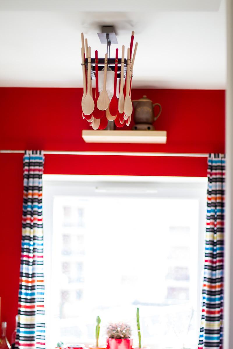 Łyżkowa lampa do kuchni