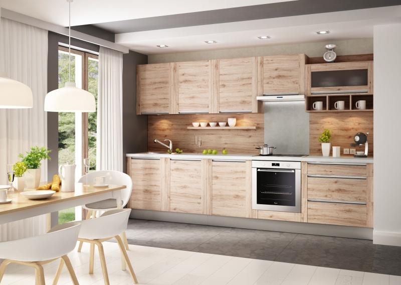 Modny trend kuchnia na jednej ścianie  WNĘTRZE I OGRÓD -> Kuchnia Na Wymiar Mala