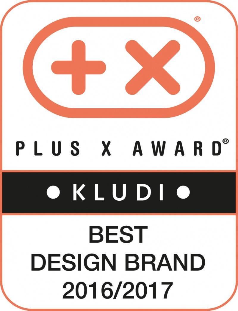 """Nagroda """"Best Design Brand 2016/2017"""" dla KLUDI"""