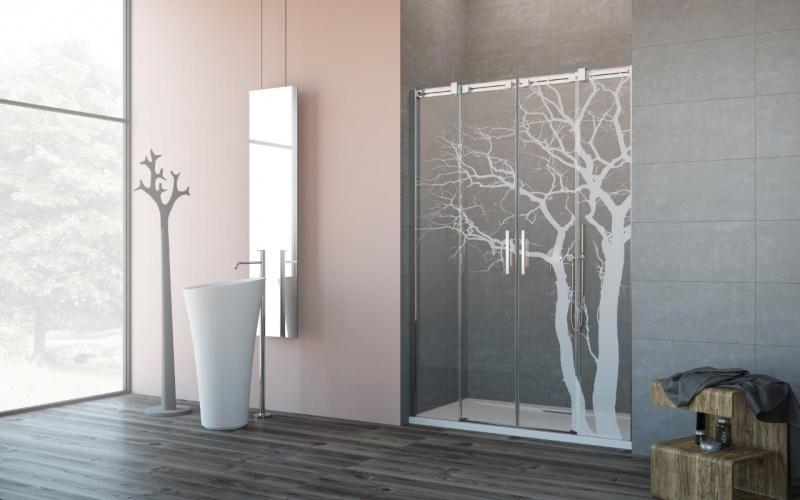 NOWOŚĆ! Stylowa dekoracja łazienki – unikalna kabina z grawerem marki Radaway