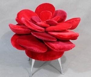 Happy_Barok_pufa_flower_czerwona