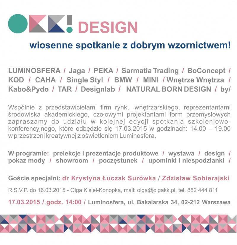 OKK! design – wiosenne spotkanie z dobrym wzornictwem!