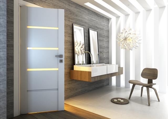 PASSO - drzwi do nowocześnie urządzonej łazienki