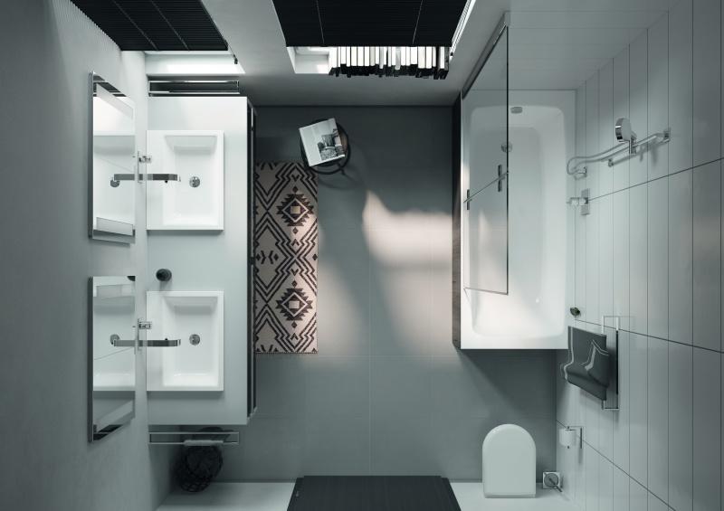 Powiększamy niewielkie łazienki