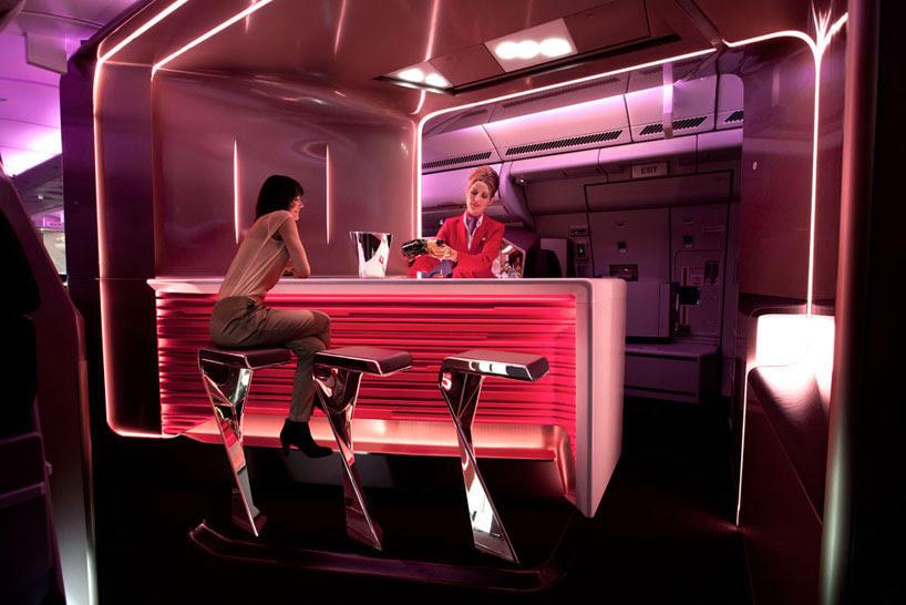 Projekt luksusowej kabiny samolotu linii Virgin Atlantic Airways na GIS Warszawa 2014