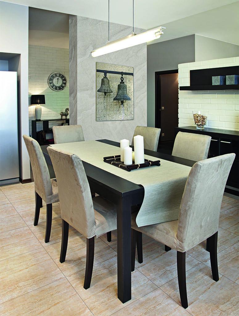 Przestrzeń rodzinna = kuchnia + jadalnia + salon