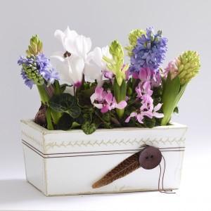 Gotowy projekt - kwiatowy koszyk