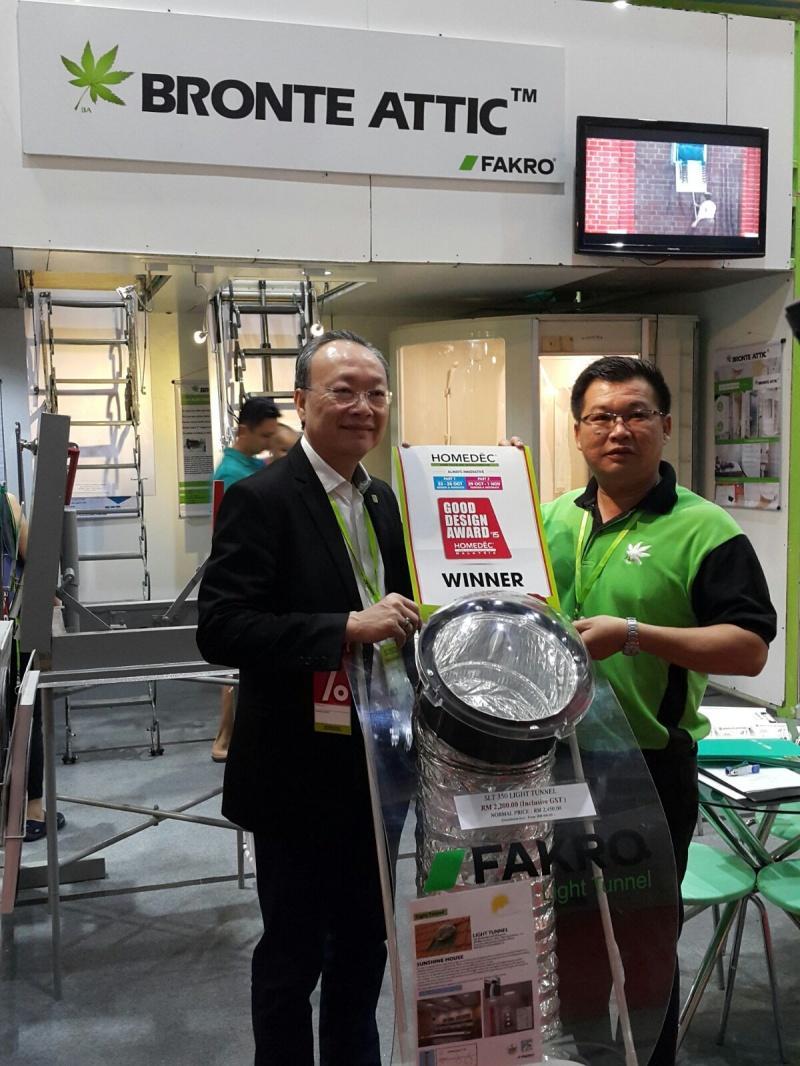 Świetlik rurowy FAKRO doceniony przez Malezyjczyków