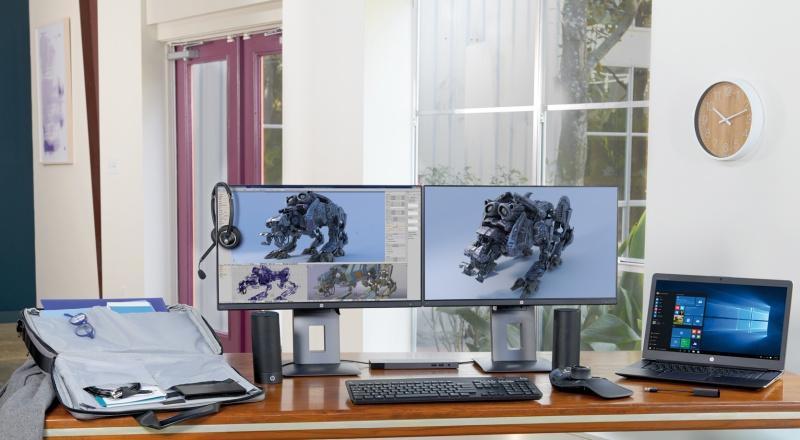 Sztuka Oskara Zięty produkowana w mobilnej stacji HP ZBook Studio.