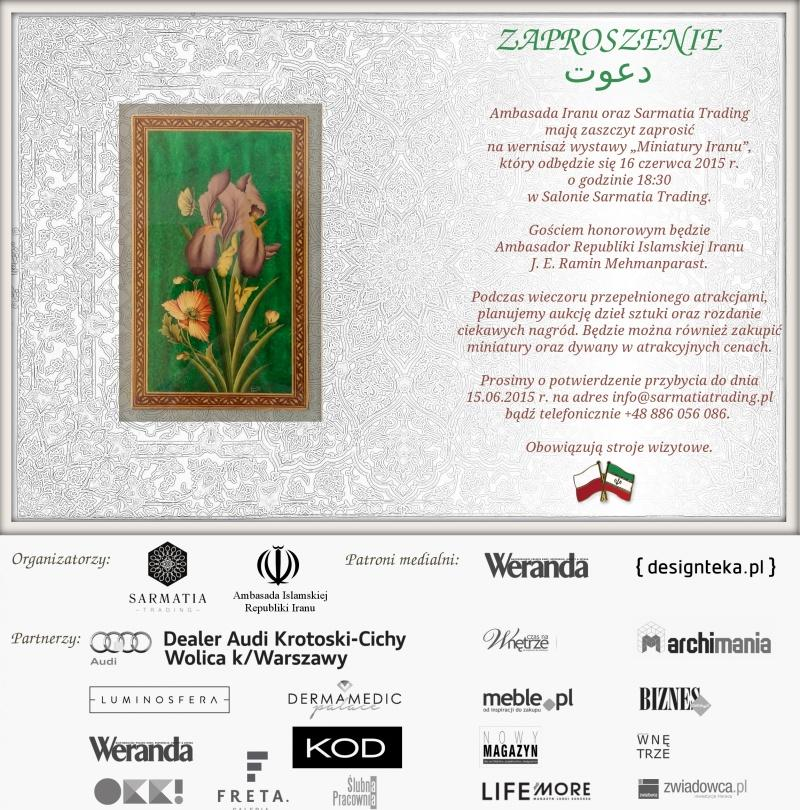 Wernisaż wystawy irańskich miniatur