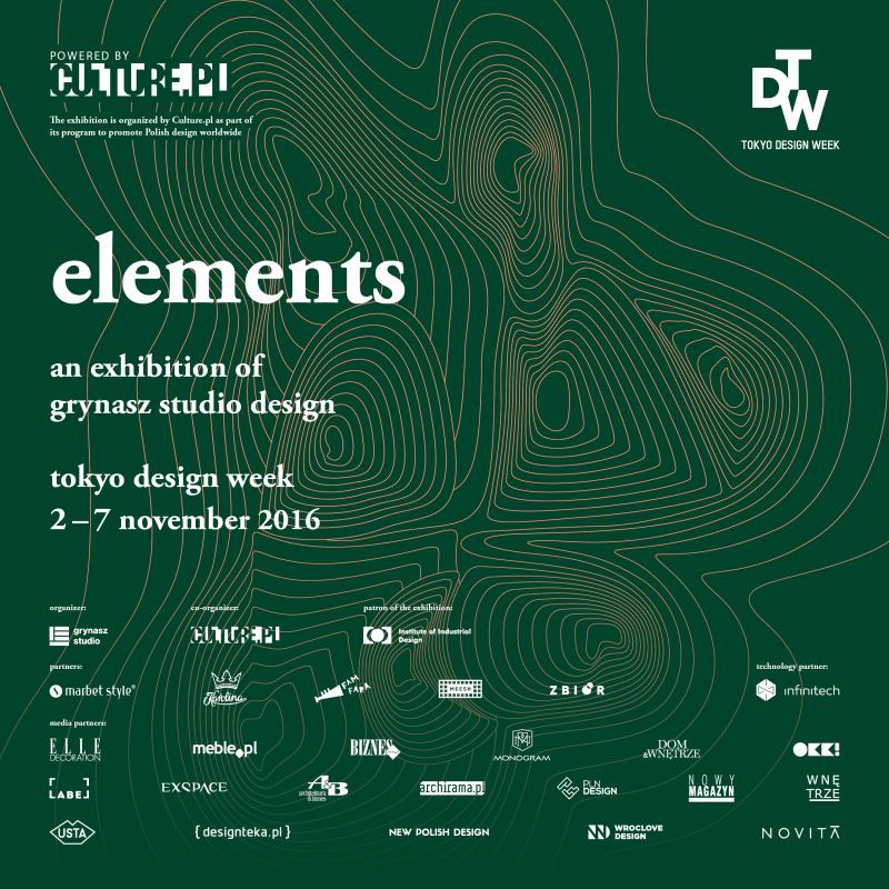 """Wystawa projektów Grynasz Studio - """"Elements"""""""